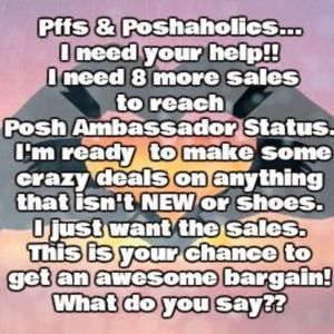 Calling all Pffs &  Poshaholic shoppers 911
